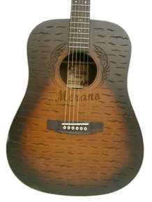 Dreadnaught Acoustic Guitar Laser Engraved