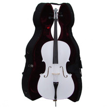Handcrafted White Cello with Hard Case MC150-WH
