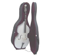 White Upright String Double Bass with Hard Case BA150-WT
