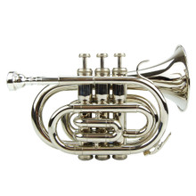 Nickel Plated Pocket Trumpet PT100-NI