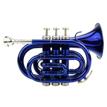 Blue Lacquer Pocket Trumpet PT100-BU