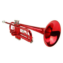 Red Lacquer Plated Trumpet