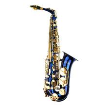 Blue Lacquer Alto Saxophone