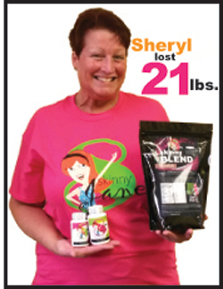 Sheryl lost 21 pounds!