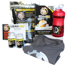 "The Lean 180 ""30 Day Weight Loss Challenge"" materials will keep you motivated and on track to reach your goal: weight loss and a more toned, healthier, and energetic man. Your plan also includes our Get Lean Kit (180 Muscle Mix, 180 Burn, and 180 Cleanse). These supplements are very safe and effective. They give you energy, decrease your appetite, and help you burn body fat while assisting in building lean mass."