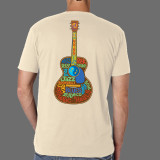 Back of shirt: The 12 notes of the chromatic scale are the basis for every chord and melody in most Western music. Roots, Rock, Reggae, Folk, Jazz, Rockabilly, Ska, Blues, Honky Tonk, Soul, and Zydeco all have something in common: just 12 notes!