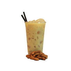 8) Almond Black Tea Latte