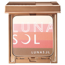 Lunasol by KANEBO Modeling Sunny Face & Blush (with case and brush) ~ EX01 Sunny Coral ~ 2017 Summer Limited Edition