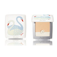 GUERLAIN Parure Blanc Light Booster Compact The Swan by Ros Lee (Case + Refill) ~ Japan Exclusive Limited Edition