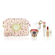 Promo! Les Merveilleuses LADUREE Face Color Rose + Cheek Brush + Lip Stick set ~ Limited Quantity
