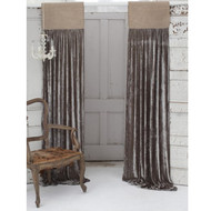 Natural Jute & Earth Velvet Curtain