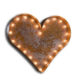 Heart Shaped Marquee Light