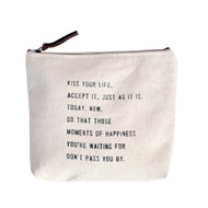 """Kiss Your Life"" Canvas Bag"