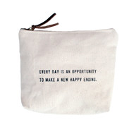 """New Happy Ending"" Canvas Bag"