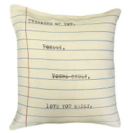 Thinking of You Letter Pillow