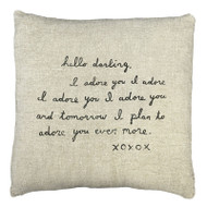 Hello Darling Letter Pillow