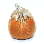 "LE (14"") Velvet Pumpkin with Feathers"