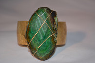 Green Agate Polished Gemstone Cuff