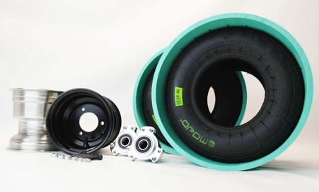 drift trike kart wheel kit 17mm axle pvc