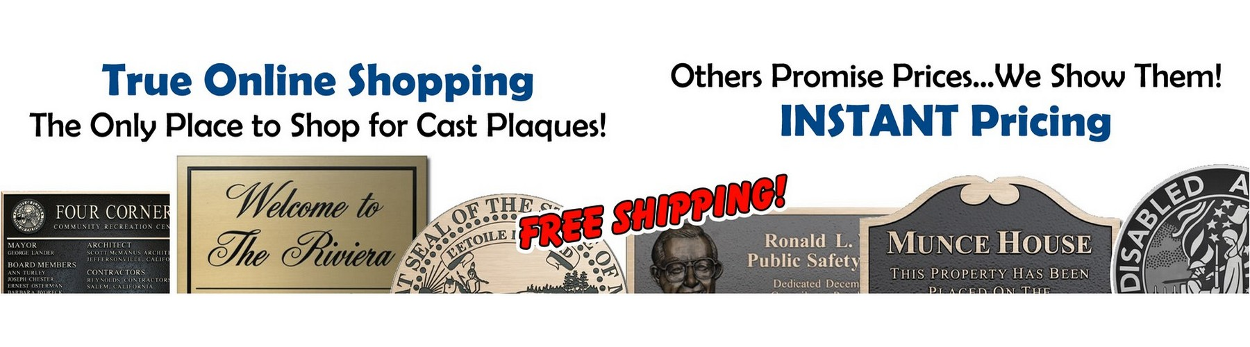 The only place to shop for cast bronze plaques. Free shipping!