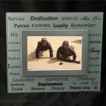 White Frosted Military 4x6 Picture Frame
