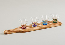 5 Piece Tasting Set with Wood Holder