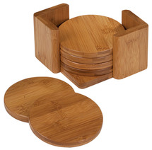 Bamboo 5 Circle Coaster Set