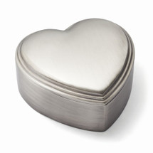 Pewter-tone Finish Heart Jewelry Box