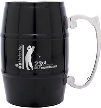 Black Stainless Steel Barrel Mug with Handle 17 oz.