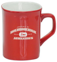 10 oz Red Ceramic Rounded Corner Coffee Mug