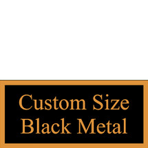Custom Size Black Metal Plate