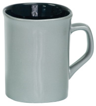 10 oz Silver Ceramic Rounded Corner Coffee Mug