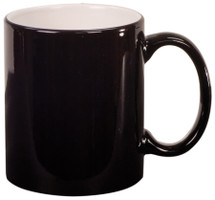 11 oz Black Ceramic Round Coffee Mug