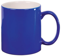 11 oz Blue Ceramic Round Coffe Mug