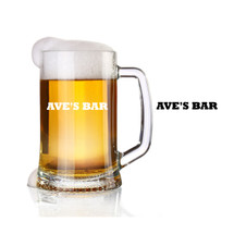 personalized glass beer stein