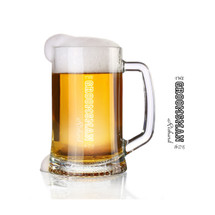 Personalized engraved groomsman glass beer stein