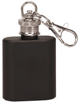 black mini 1oz flask