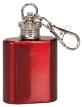 red mini 1oz flask