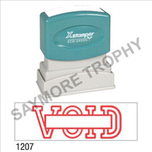 """XStamper Pre-Inked Stock Stamp """"VOID w/BOX"""" (RED) - Impression Size: 1/2"""" x 1-5/8"""""""