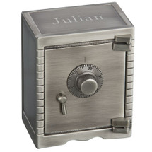 vault bank pewter finish engraved