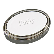 Personalized Polished Oval Jewelry Box