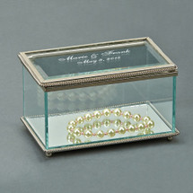 Personalized Engraved Glass Jewelry Box 5.25 Inch