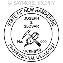 NH New Hampshire Professional Geologist Stamp