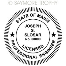 ME Maine Professional Engineer Stamp