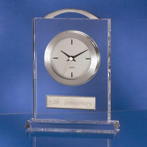 Crystal and Silver Clock