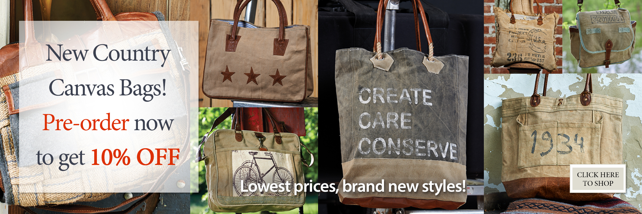 New Bag Styles! Pre-order Now