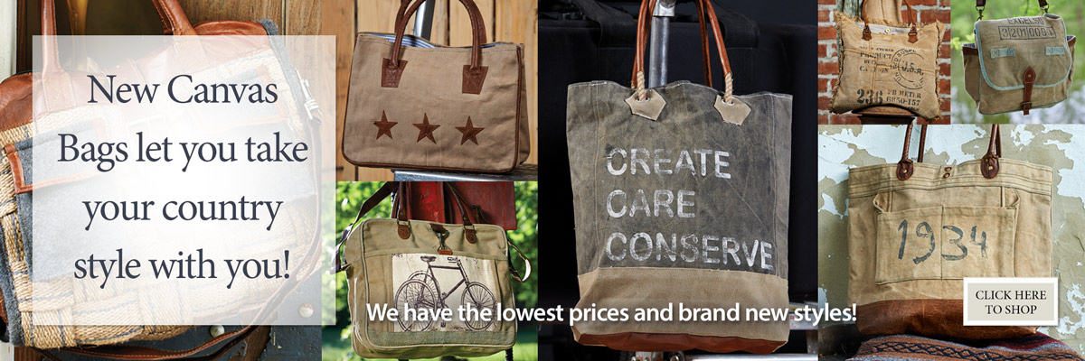 Canvas Bags and Totes are our Hottest Sellers! Shop now!