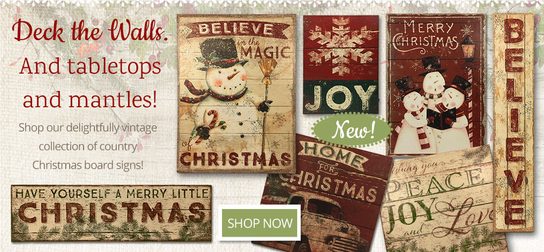 Country Wooden Board Signs have vintage style