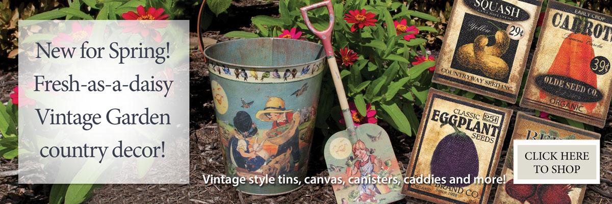 New for Spring! Vintage Garden Decor