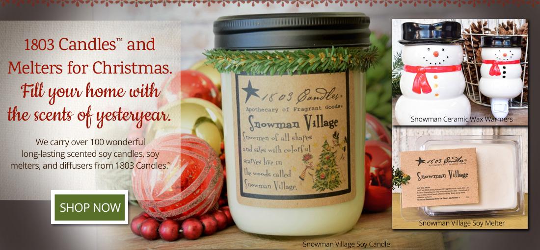 1803 Candles Snowman Village